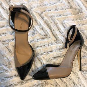 Shoedazzle Nude/Black Heels